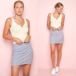 Brandy Melville Blue & White Striped Kassia Skirt